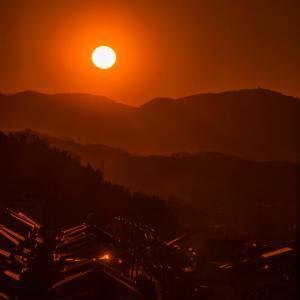 2月23日、高台からの夕景~続き(*^^*)♬
