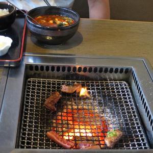 たまには炭火焼肉~& 外食も~♪