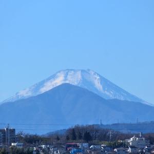 1月10日、昼頃の富士山と川の様子~
