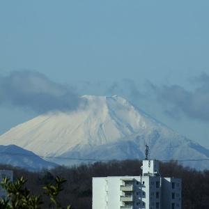 1月25日 真っ白な富士山 & 【八王子・堰場】からのダイヤモンド富士(No.165)