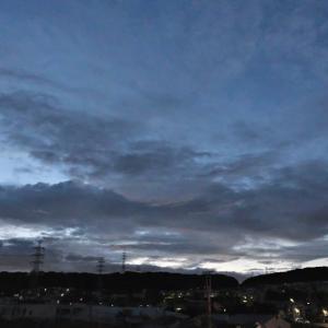 9月19日、朝の空と夕方の富士山~♬