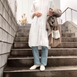 やっと着れる季節になった白シャツワンピ