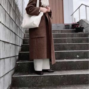 TODAYFULのコートを春寄りに着る