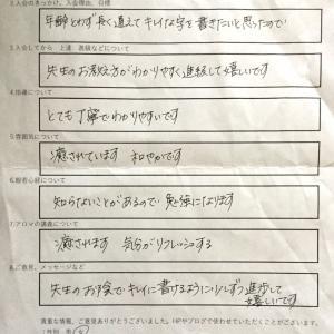 アンケート、皆様の温かいお声に涙❗️これからもがんばります。名古屋市の癒しのスミレ書道教室