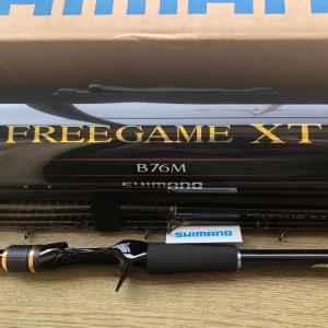 新しい右腕が着弾、シマノ フリーゲームXT B76M。