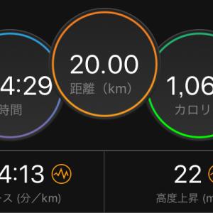 神戸初DNSから中1日20キロMペース走