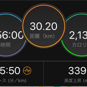 ミニ峠走コースで30キロと大阪ハーフは2年連続のDNS
