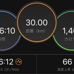 4日で160キロのジョグ