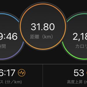 5日連続の1日合計30キロ以上のジョグ