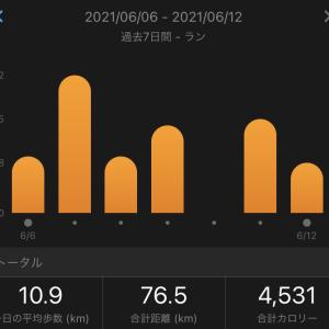 今週の週間走行距離