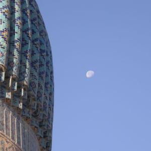 ウズベクの昼の月   Tさんのウズベキスタン旅行記から       2008年の今日   7月23日に掲載