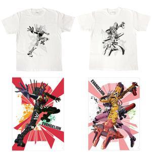シン・エヴァ「新2号機α」「8号機β」描き下ろしイラストのTシャツ、クリファイル、アクリルスタンド、タペストリーが登場