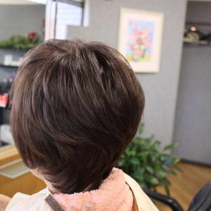50代 くせ毛の方の 簡単スタイル