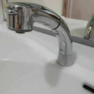 とても危険な洗面化粧台のハンドシャワー