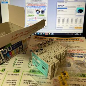 飼い猫調査&糞尿被害調査のため配布物を印刷中