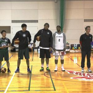 バスケットボ−ル公開練習