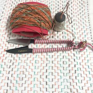 刺し子 16作目 柿の花