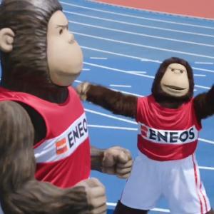 エネゴリくんが100メートル9秒台で走る?エネオス新CMが面白すぎるww