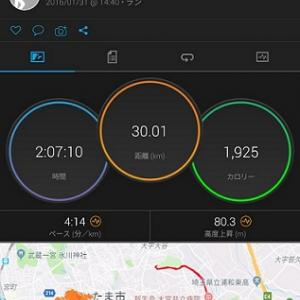 【さいたま国際】12週前のトレーニング(LT+持久力強化1)低酸素トレ@好日山荘、25K走