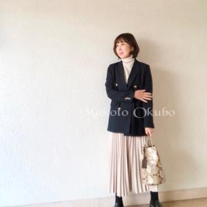 紺ブレコーデ〜顔タイプエレガント  偶然ばったり出会った同期!