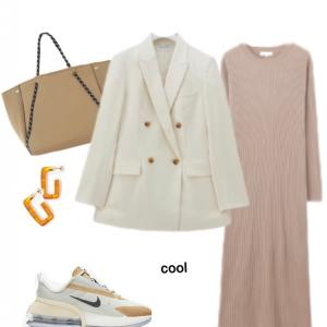 バッグと靴でカジュアルダウン クールタイプ
