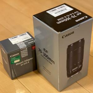 ズームレンズとカメラ保存ケース