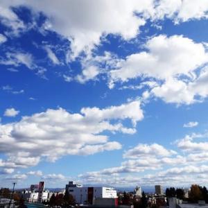 今日の空は 貴重な秋晴れ