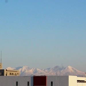 冷え込んだ日と大雪山