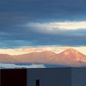 大雪山の夕焼け