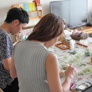 手作り ご両親贈呈ギフトレッスン プリザーブドフラワーのフォトフレーム @千葉県市川市