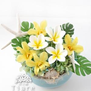 【花材変更&ボリュームアップ】 プルメリアのアレンジメント サロンの開店祝いに