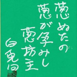 三月の俳句色紙に書きました