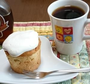 マフィンカップでシフォンケーキ