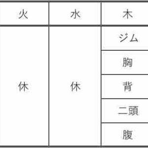 yakumoの筋トレメニュー最新版だよ!