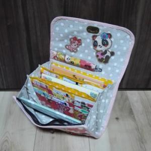 【手作り。】母子手帳ケース(ジャバラ、3人分収納、Lサイズ母子手帳)を作ってみた。