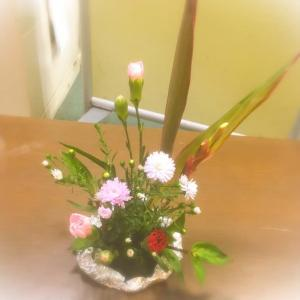 今日の生け花っ❗️