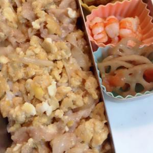 豚卵とじ弁当、栗ごはん弁当NO497