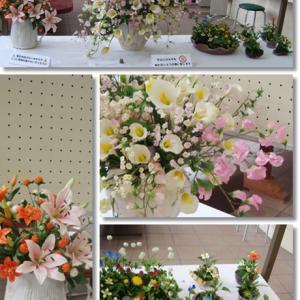粘土 春から初夏の花展示