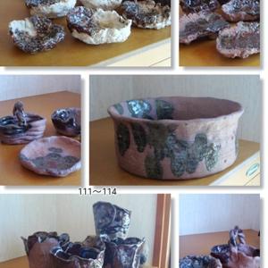 陶芸教室完成作品いっぱい!