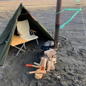 海でデイキャンプ