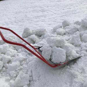 手作業排雪