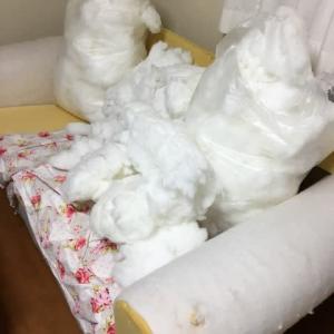 10年使っているIKEAのソファがボロいので、カバーを新調しました