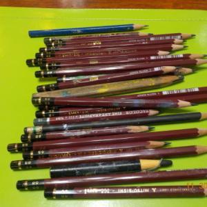 ひさしぶりに鉛筆削る日