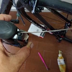 ロードバイクをオーバーホールしました(その5)最後+日泉ブレーキケーブルに交換