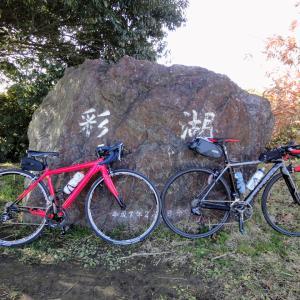 久しぶりに奥さんと彩湖までサイクリンクしてきました