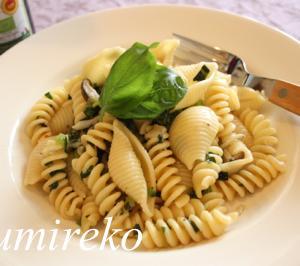 小松菜とバジルのパスタ レシピ