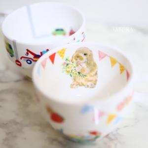 お孫さま専用のマグカップ~ポーセラーツ生徒さま作品