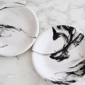 ご自宅にあるお皿が変身!水墨画風プレート~生徒さま作品
