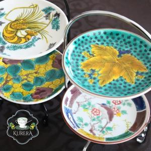和モダンの豆皿アフタヌーンティー風~和風彩色チャイナペインティング