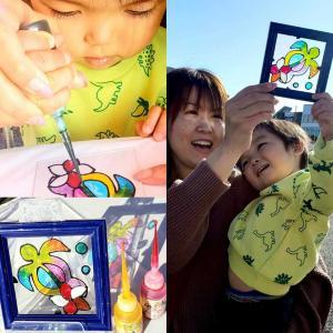 久喜住宅公園 ディンプルアート体験の様子
